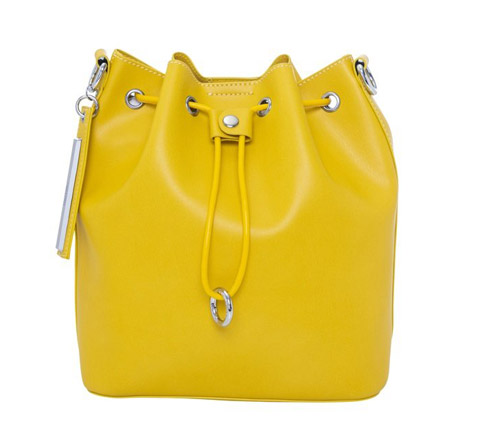 A yellow bag photo in a white background after clipping path service