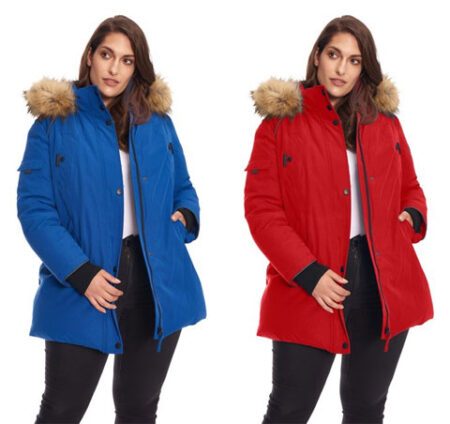 A lady wearing same and different color jacket an example of color correction service