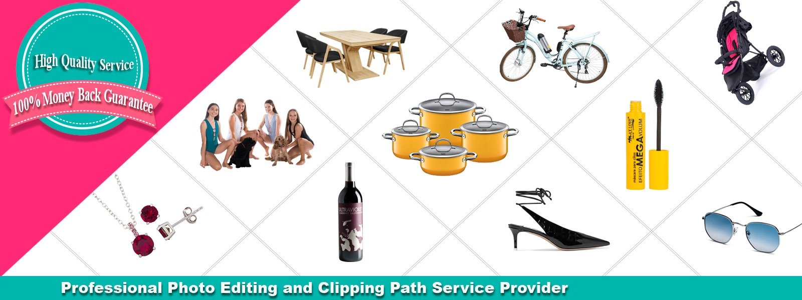 clipping solutions banner photo contains some work sample photos