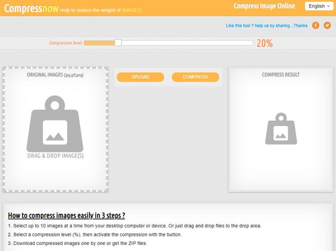 CompressNow a free image optimizer