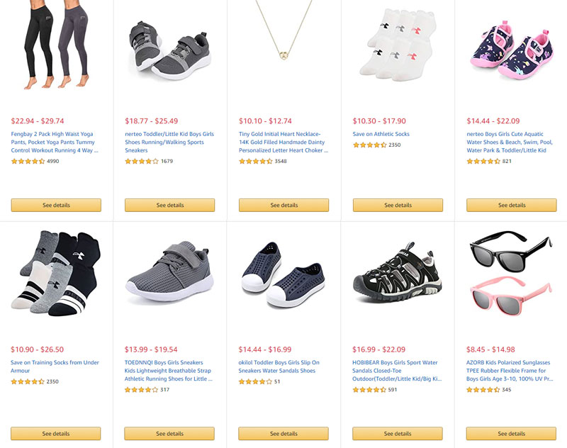 example of use appropriate graphics on ecommerce