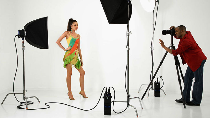 product shoot with models for e-commerce