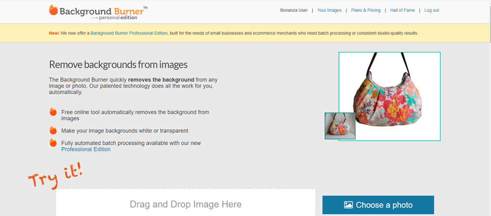 Background Burner Online Background Remover