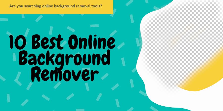 Online background removal tool banner