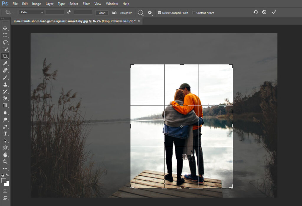 How to Crop Image in Photoshop cc in 2021