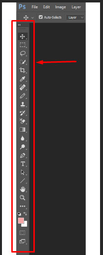 Photoshop tools in tool bar