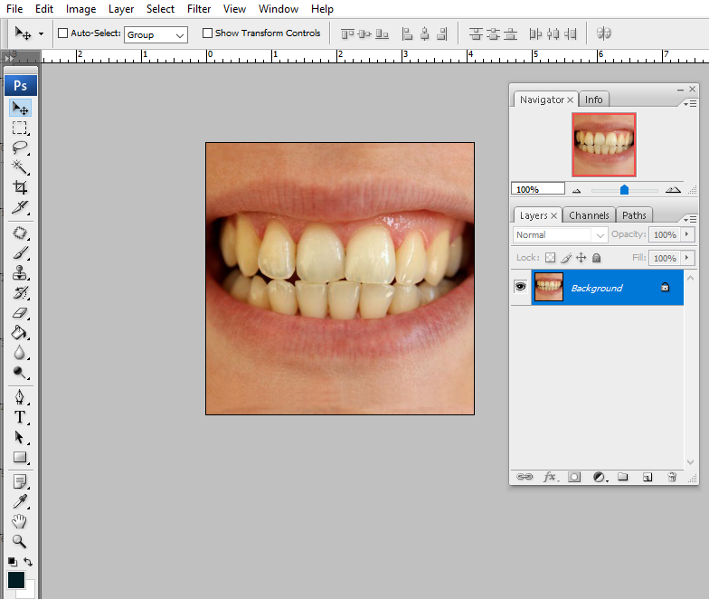 how to whiten teeth in photoshop, Step One